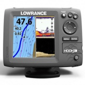 Эхолот-навигатор Lowrance HOOK-5 Mid/High/DownScan